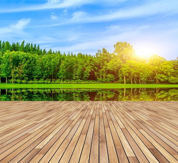 Forma parków ogrodowych letni plener