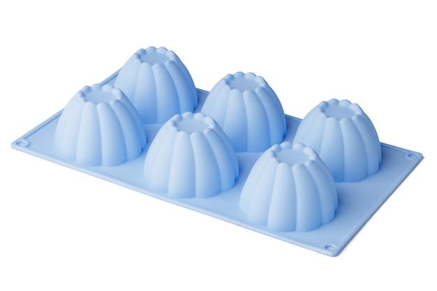 Forma silikonowa do pieczenia ciastek na białym tle