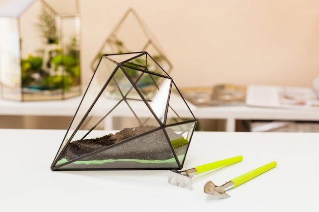 Forma szklana do uprawy roślin i dekoracji wnętrz, piasku, ziemi, sukulentów, kaktusów i roślin, roślin doniczkowych