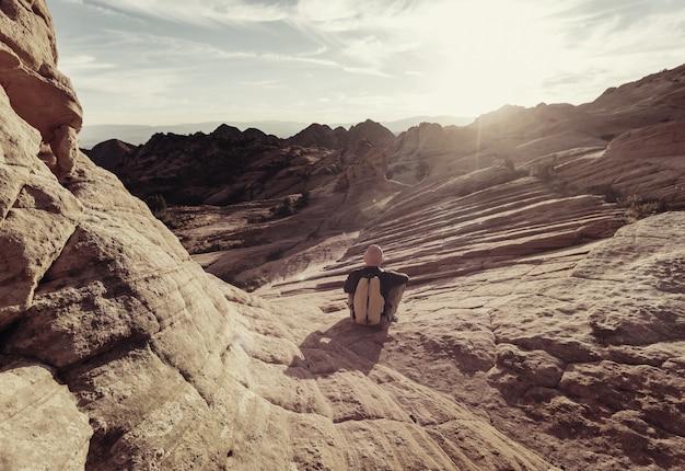 Formacje z piaskowca w utah, usa