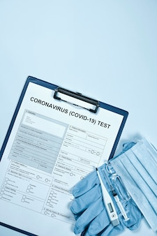 Formularz testu koronawirusa