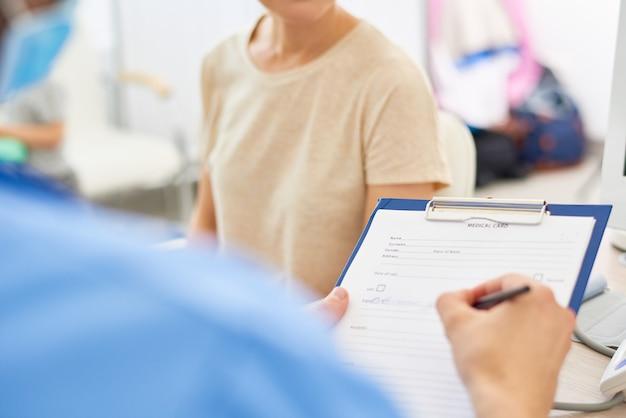 Formularz zgłoszenia do lekarza