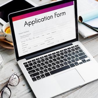 Formularz zgłoszeniowy koncepcja dokumentu zatrudnienia