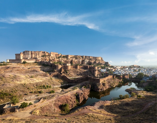 Fort mehrangarh, jodhpur, radżastan, indie
