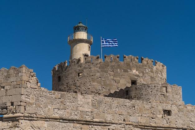 Fort św. mikołaja na rodos, grecja