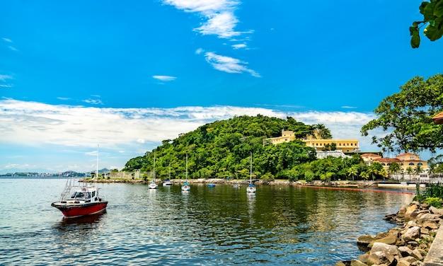 Fortaleza de sao joao w rio de janeiro, brazylia