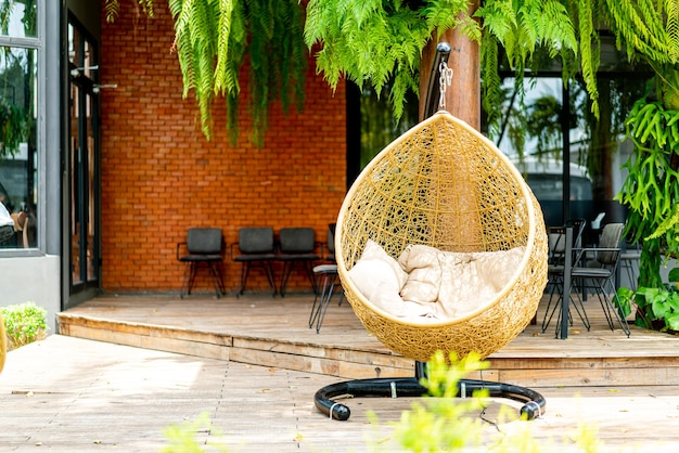 Fotel ogrodowy z wikliny