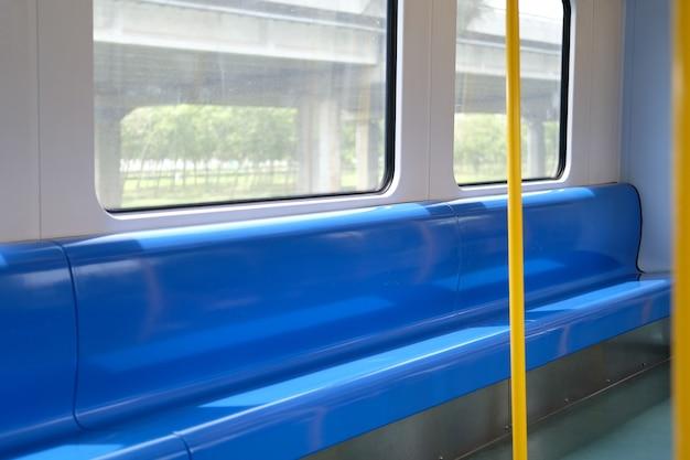 Fotel pasażera w pociągu elektrycznym