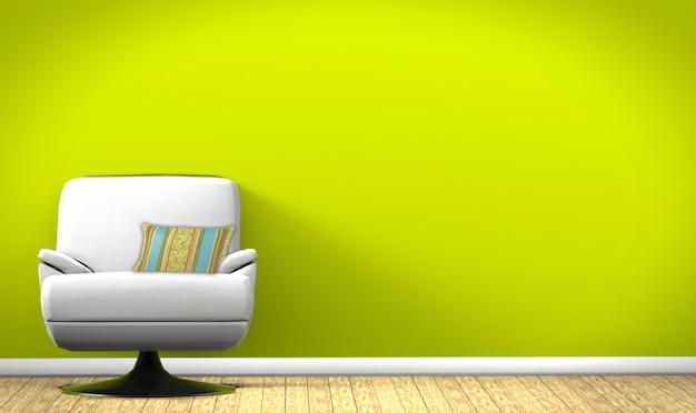 Fotel w tle wnętrza