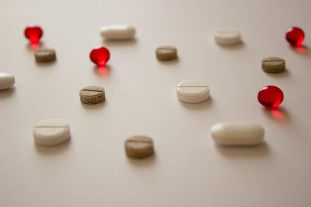 Foto pigułkiwitaminy leczenie wirusów covid farmaceutyki