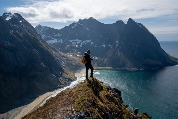 Fotograf na lofotach w norwegii