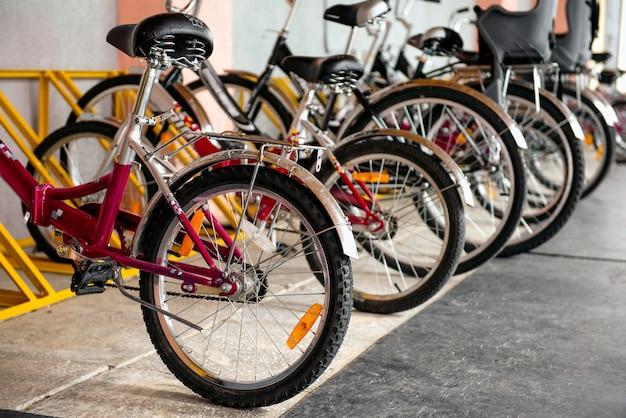 Fotografia bicykle na parking