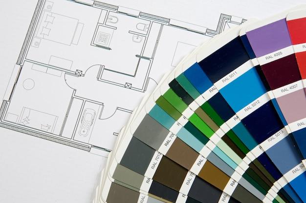 Fotografia błękitnych druków domowych planów