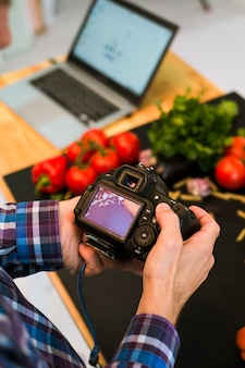 Fotografia kulinarna, fotograf, koncepcja hobby bloga artystycznego