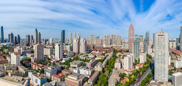 Fotografia lotnicza panoramy krajobrazu miasta tianjin