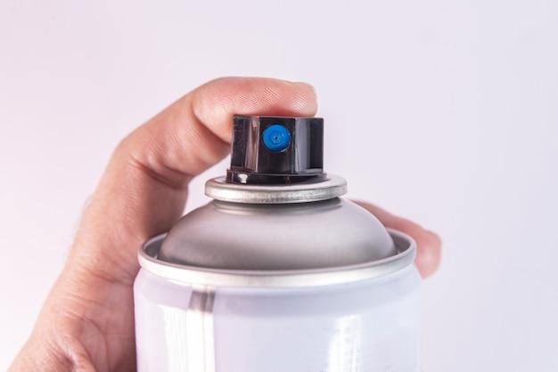 Fotografia makro farby w aerozolu