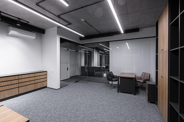 Fotografia wnętrz, nowoczesne centrum biurowe, coworking