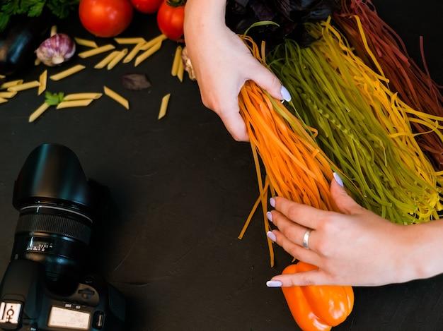 Fotografia żywności studio fotograficzne stylista art blog koncepcja makaronu