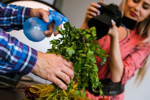 Fotografia żywnościowa studio fotograficzne praca zespołowa koncepcja bloga artystycznego