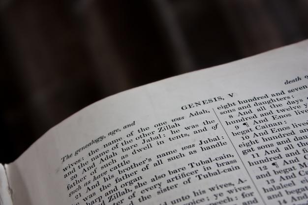 Fragment biblii, rozdział księgi rodzaju.