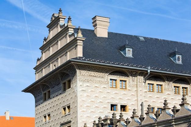 Fragment pałacu schwarzenberg, praga, czechy