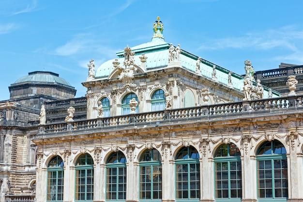 Fragment pałacu zwinger w dreźnie, niemcy