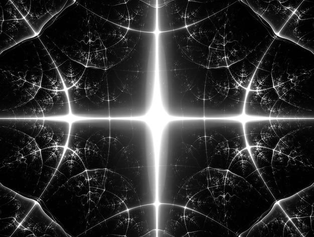 Fraktal czarno-białe tło