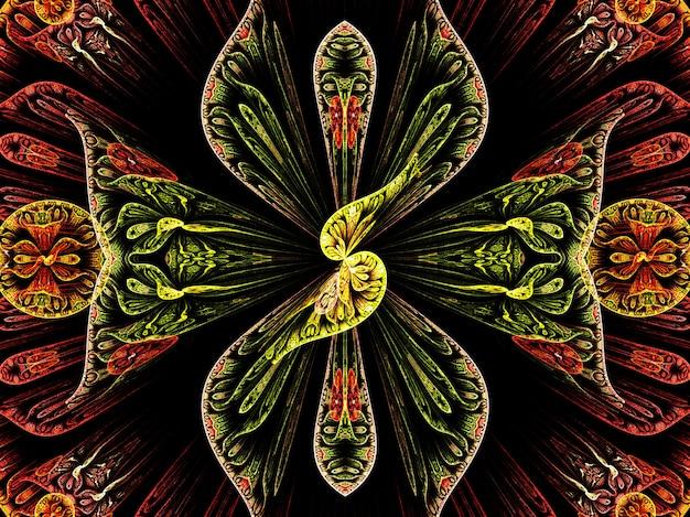 Fraktal streszczenie fraktal sztuki tła dla kreatywnego projektowania. ozdoba do tapety na pulpit, plakatu, okładki, karty