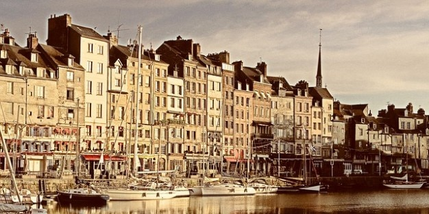 France honfleur morze normandy turystyczna port święto