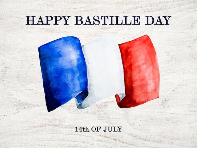 Francuska flaga. piękna kartka z pozdrowieniami. ścieśniać