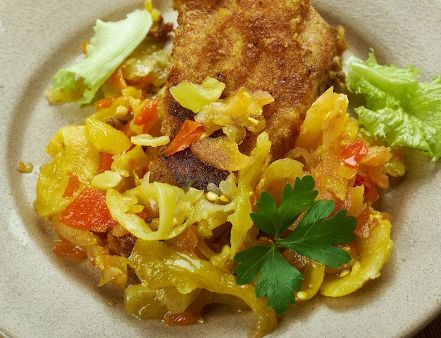Francuski karaibski sos kreolski do ryb, owoców morza