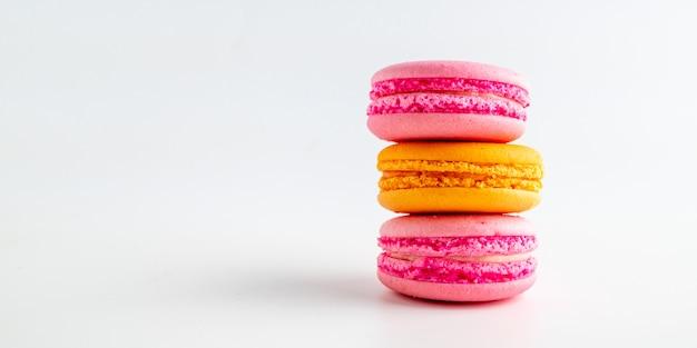 Francuski słodki przysmak, zbliżenie odmiany makaroniki