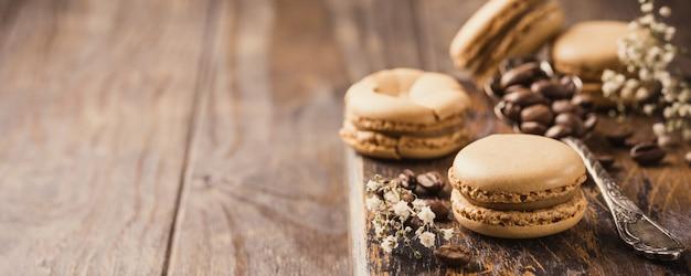 Francuskie kawowe makaroniki