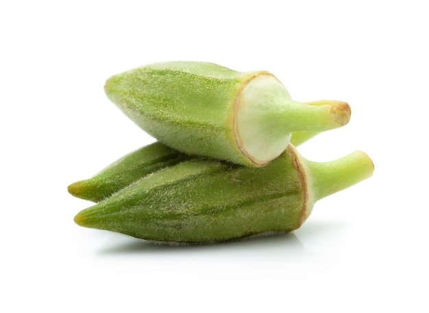 Fresh green okra