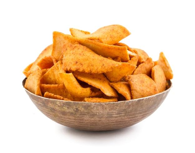 Fried soya stick chips