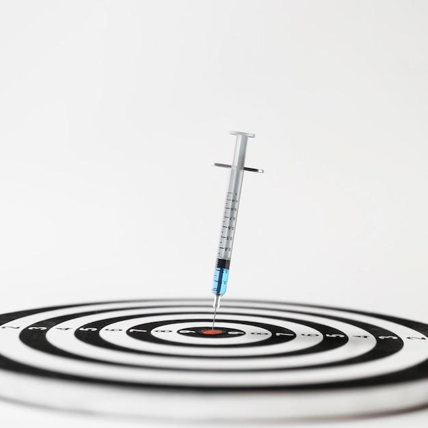 Frontowy widok szczepionki medyczny pojęcie