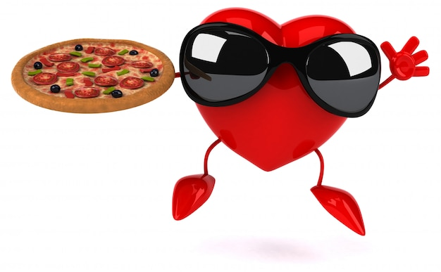 Fun heart - postać 3d