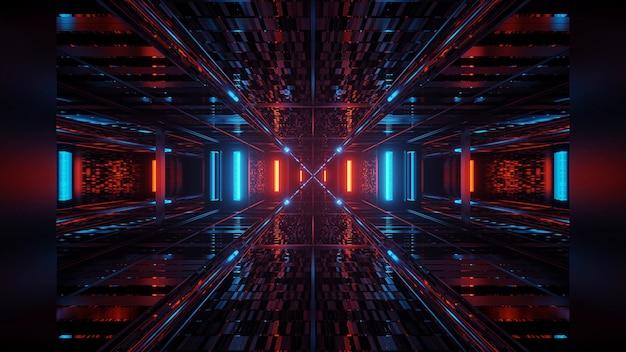 Futurystyczne kolorowe świecące abstrakcyjne neony tło