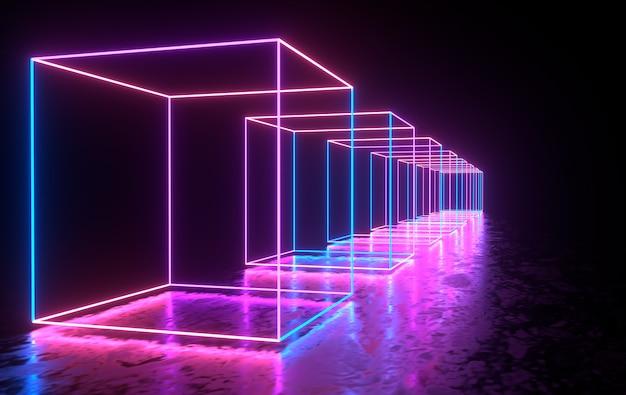 Futurystyczne Neony Premium Zdjęcia
