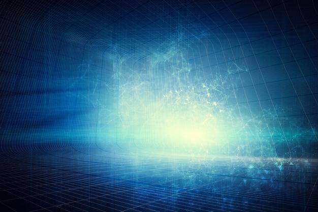 Futurystyczne nowoczesne niebieskie tło