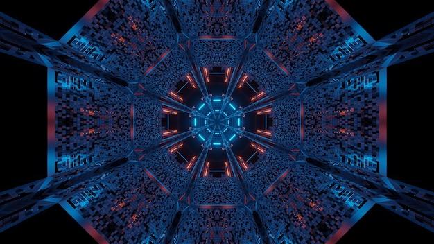 Futurystyczne tło z abstrakcyjnymi fioletowymi i niebieskimi światłami laserowymi - idealne na cyfrowe tło