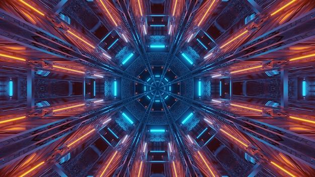 Futurystyczne tło ze świecącym abstrakcyjnym światłem neonowym