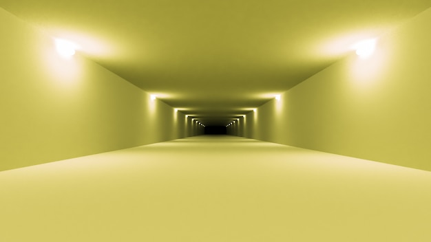 Futurystyczne wnętrze tunelu science fiction