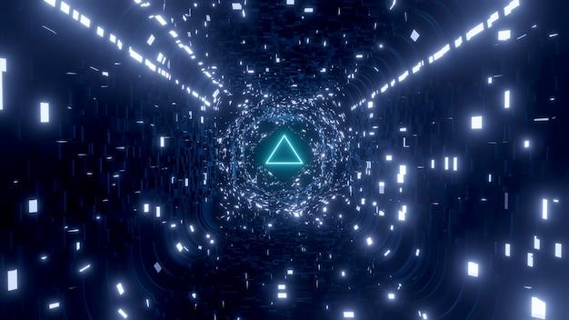 Futurystyczny abstrakcyjny projekt tapety science fiction