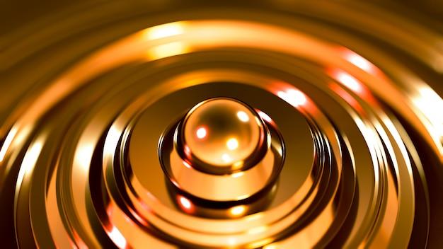 Futurystyczny czarny metalik z pierścieniami.