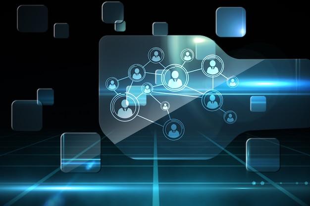 Futurystyczny interfejs technologii