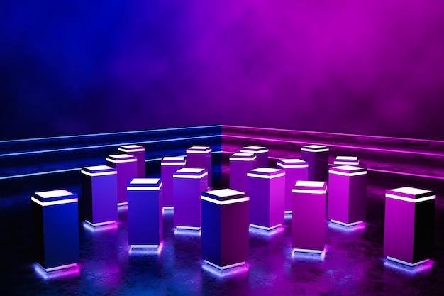 Futurystyczny prostokąt podium