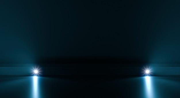 Futurystyczny ścieżki tło z lekkim oświetleniem