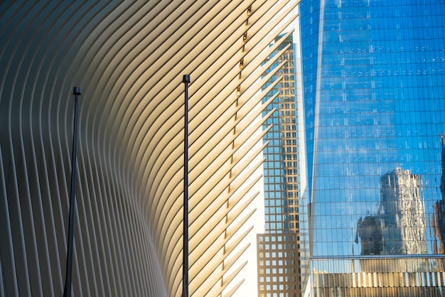 Futurystyczny widok na nowoczesny design i budynki