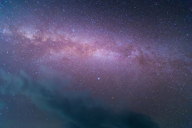 Galaktyka drogi mlecznej z gwiazdami i pyłem kosmicznym we wszechświecie. astronomia.